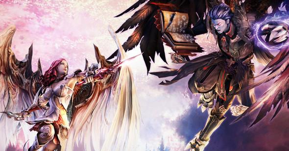 Ein Kampf zwischen Elyos und Asmodier im Flugmodus. - (MMORPG, WOW, Aion)