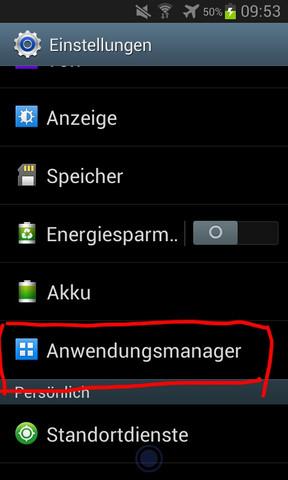 - (Handy, Samsung Galaxy)