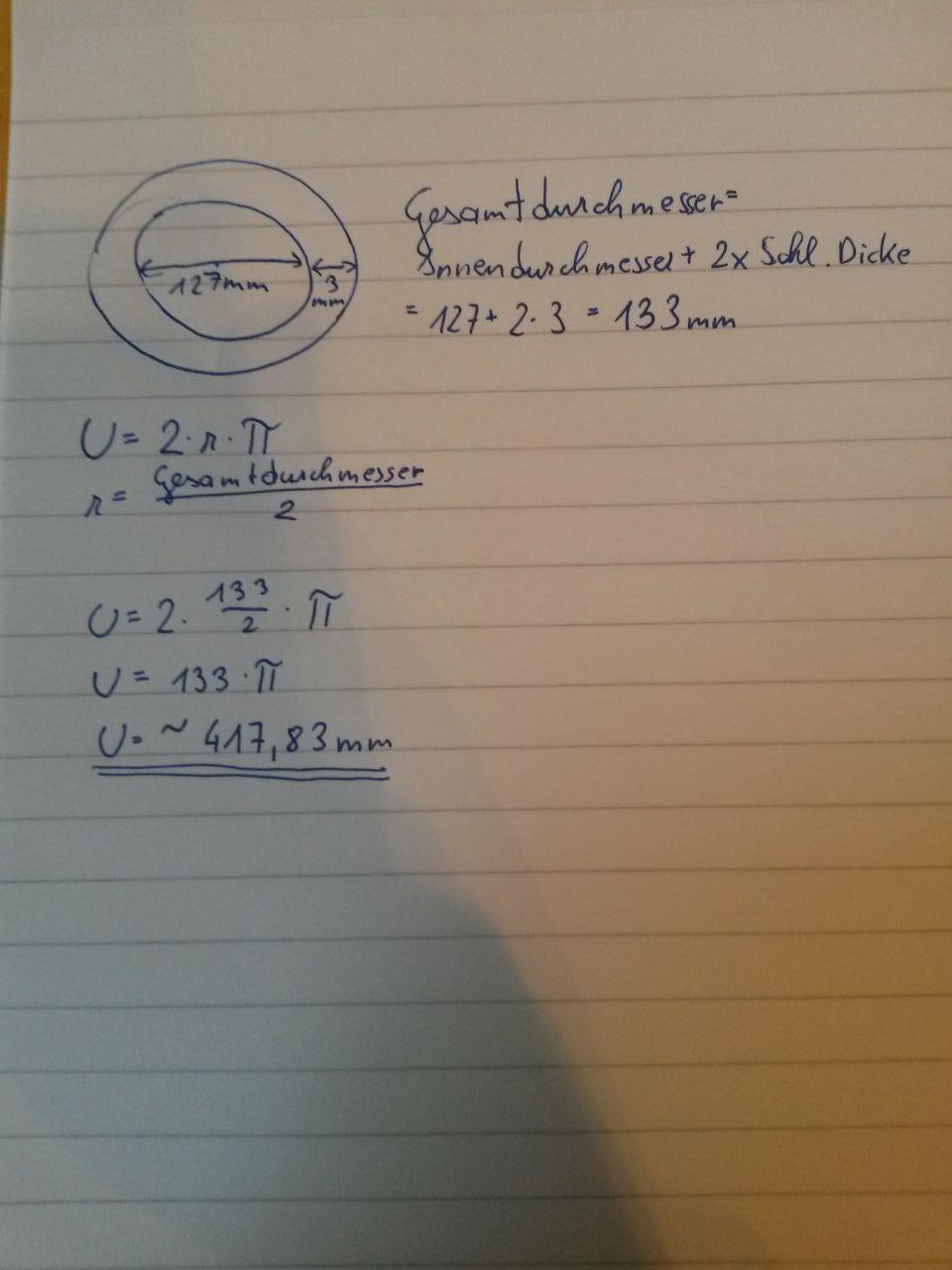 wie berechnet man den umfang eines kreises? (schule, mathe, lernen)