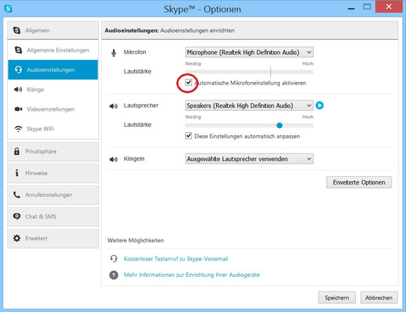 Skype - Audioeinstellungen - (Computer, Windows, Software)