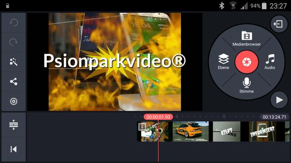 Psionparkvideo nutzt Kinemaster  - (Youtube, Samsung, video edit)