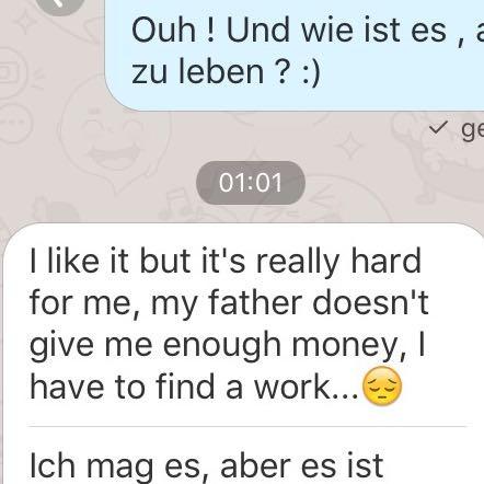 Hier kannst du die Übersetzung sehen, falls du mal etw nicht verstehen solltest - (Sprache, Englisch, Ausland)