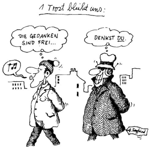 Diese Karikatur von Seyfried zeigt, wie weit wir schon sind. - (Wissenschaft, Philosophie, Nerven)