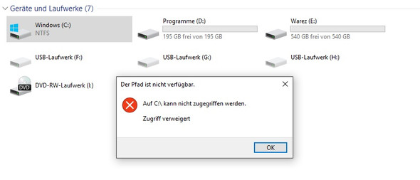 Bild 3 - (Rechte, Windows 10, Admin)