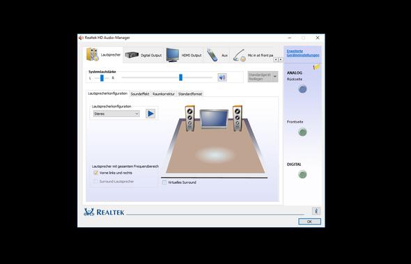 Realtek Audio-Manager  - (Computer, PC, Windows)