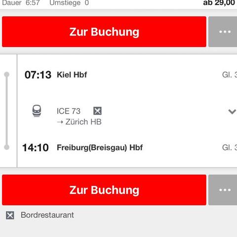 Beispielverbindung.  - (Deutschland, Preis, Bahn)