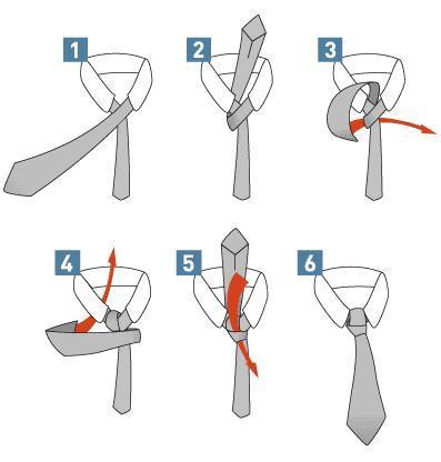 Einfacher Windsorknoten - (Beruf, Krawatte)