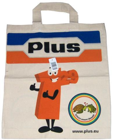 PLUS Baumwoll-Tragetasche 2008 - (Markt, Schildkröten, Discounter)