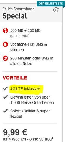 Aktueller Smartphone Special als Übersicht - (iPhone, Vodafone, Flat)