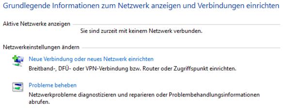 Netzwerk und Freigabecenter - (Computer, PC, Internet)