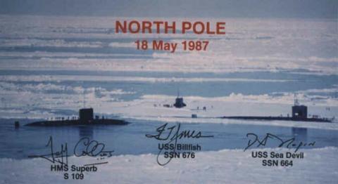 """Am 18. Mai 1987 haben sich 3 Atom-Uboote am Nordpol getroffen! Das war noch im Winter bei """"starker Vereisung"""". http://der-weg.org/klima.html#kalt-ist-das-neue-warm - (Länder, Geografie, Erde)"""