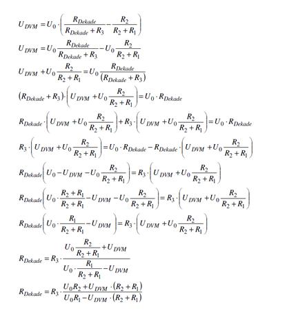 Auflösung nach Rdek - (Mathematik, Elektrotechnik)