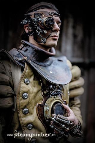 Steampunk Kleidung mit Maske - Kostüm eines Zeitreisenden - (basteln, steampunk)