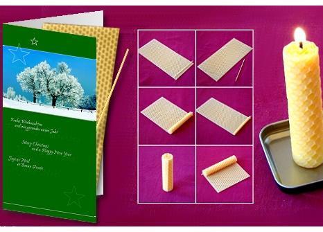 Weihnachtskarte mit Wachskerze zum Selberbasteln - (Geld, Beruf, Wirtschaft)