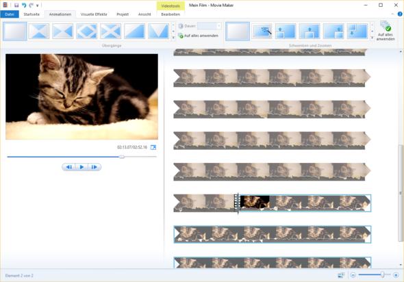 Windows Movie Maker - (PC, Multimedia, Schnittprogramm)