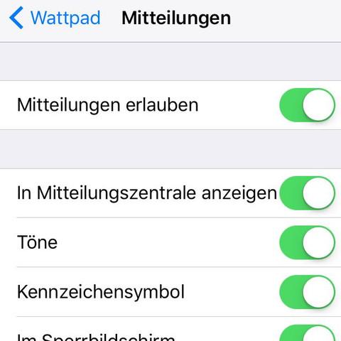 In den Einstellungen des IPhone  - (iPhone, Wattpaf)