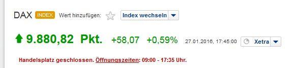 - (Politik, Wirtschaft, Börse)