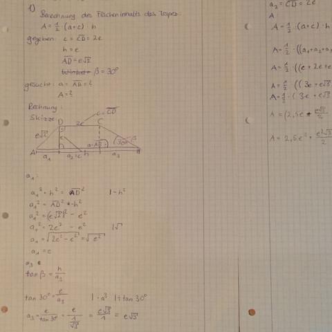 Berechnung von a1, a2 - (Schule, Arbeit, Körper)