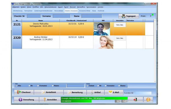 Checkin Checkout - (PC, Software, Verein)