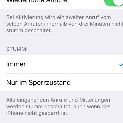 """Bei """"immer"""" einen Haken setzen. - (iPhone, 6S)"""