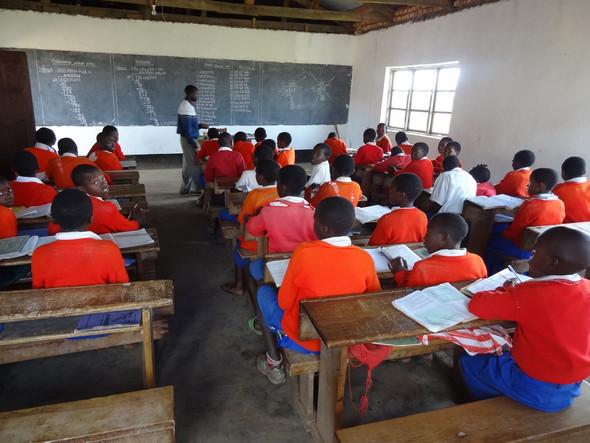 Beispiel einer Grundschule in Tansania - (Schule, Afrika)