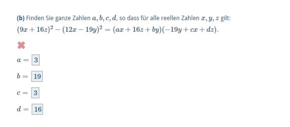 - (Mathematik, Aufgabe)