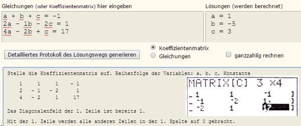 Gleichungssystem - falsche Lösung erscheint auf dem GTR? (Mathematik ...