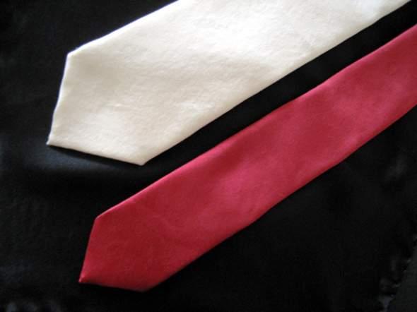 Breite und schmale Krawatte aus fair gehandelter Bio-Seide - (Krawatte)
