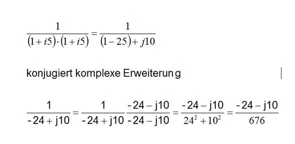 konjugiert komplexe Erweiterung - (komplexe zahlen, negative Exponenten)