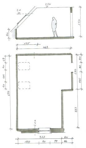 Grundriss und Ansicht - (Haus, einrichten, hausplan)