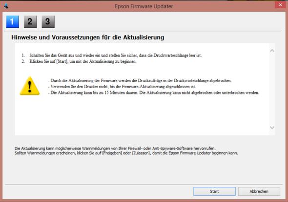 Diese Meldung kam auch noch auf meinem Laptop - (Software, Update, Drucker)