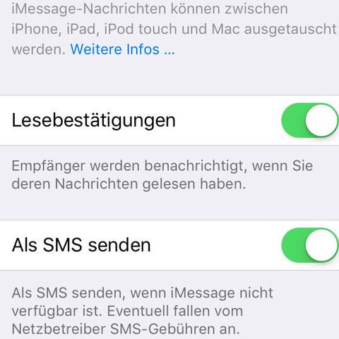 Einstellungen- Nachrichten  - (Handy, iPhone, Nachrichten)