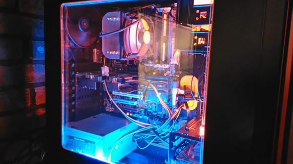 Be Quiet Silent Base 600 mit Kaltlichtkathoden in rot & blau - (Computer, PC, Gehäuse)