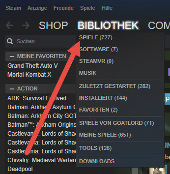 Screen - (Steam, Bibliothek)