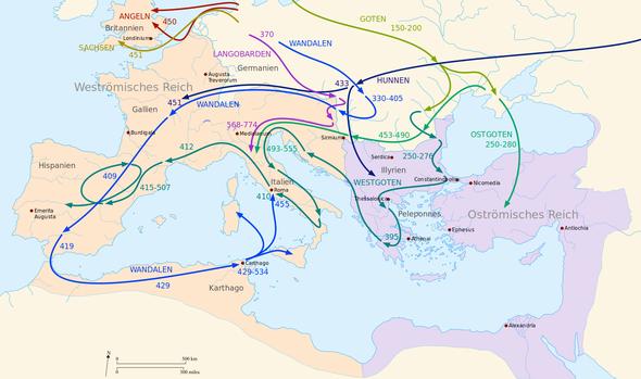 Völkerwanderung - (Türken, Russen, Nationaliät)