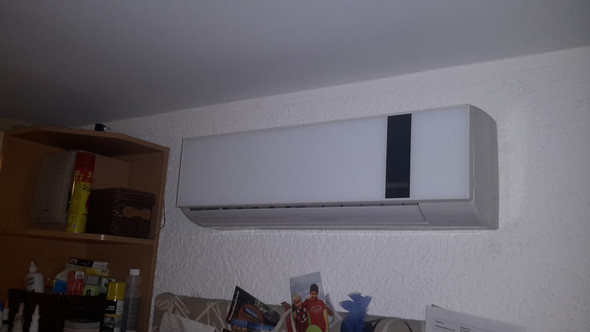 Die 1. DIMSTAL Klimaanlage im Wohnzimmer  - (Klimaanlage, Dimstal)