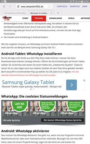 - (WhatsApp, Apps, Tablet)