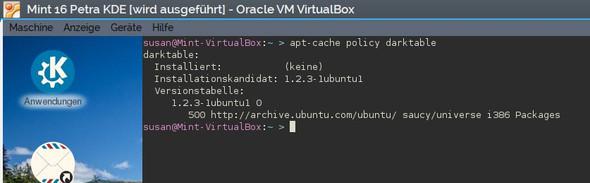 Darktable in Mint über das Ubuntu-Universe Repository - (Linux, Ubuntu, Darktable)