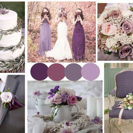 passende farben zu einer zart lila tischdecke hochzeit. Black Bedroom Furniture Sets. Home Design Ideas