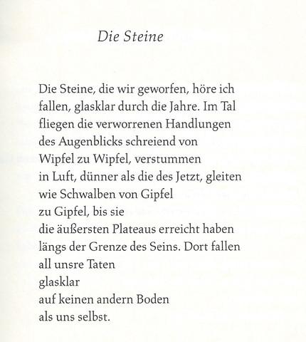 Die Steine - (Literatur, Gedicht, Symbol)