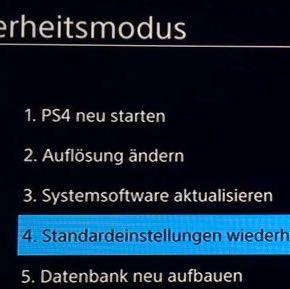 Sicherheitsmodus - (PS4, geht-nicht-an)