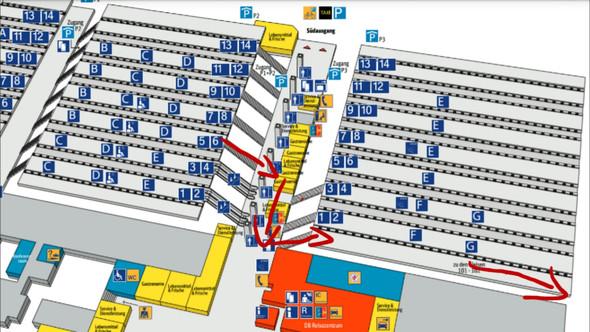 karlsruher hbf von gleis 5 an gleis 102 bahn bahnhof karlsruhe. Black Bedroom Furniture Sets. Home Design Ideas