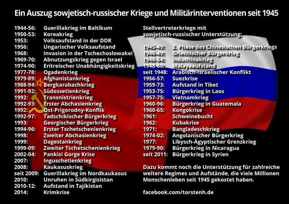 sowjetisch-russische Kriege seit 1945 - (USA, Streit, Russland)