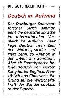 Deutsch - (Englisch, Sprechen, Anglizismen)