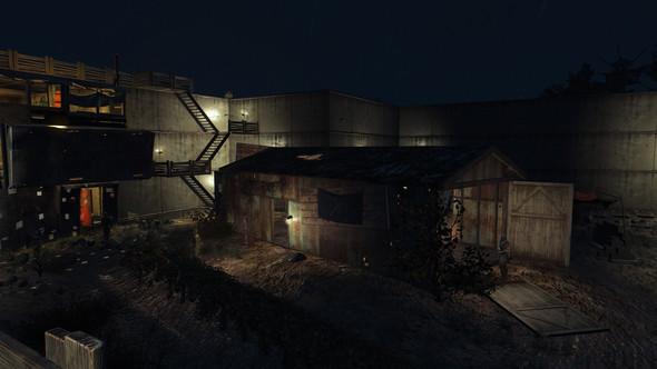 meine Sunshine Trading Corp (oder wie die heißt) Siedlung - (Mods, Fallout 4, Betonblöcke)