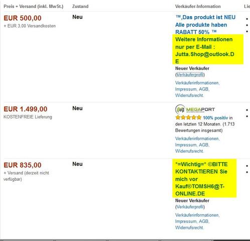 Amazon Fake-Shops - (Amazon, gebraucht)