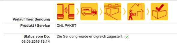 Sendungsverfolgung DHL - (Paket, DHL)