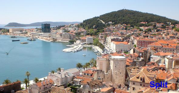 Split vom Kirchturm in der Altstadt aufgenommen - (Urlaub, Ausland, Wetter)
