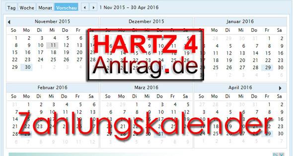 Hartz 4 Zahlungskalender - (Finanzen, Haushalt, Hartz IV)