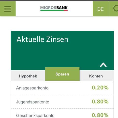 Migros Bank  - (Kinder, Konto, Schweiz)